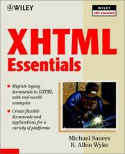 Cover of: XHTML Essentials | Michael P. Sauers