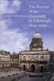 Cover of: The Rectors of the University of Edinburgh 1859-2000 | Donald Wintersgill