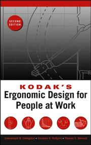 Cover of: Kodak's Ergonomic Design for People at Work