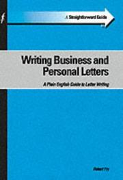 Cover of: A Straightforward Guide to Writing Business and Personal Letters