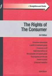Cover of: A Straightforward Guide to Consumer Law (Straightforward Guide)