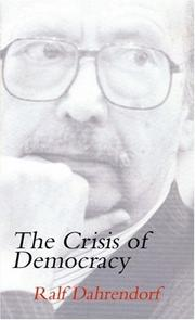 Cover of: The Crisis of Democracy