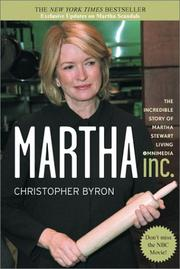 Cover of: Martha Inc. | Christopher M. Byron