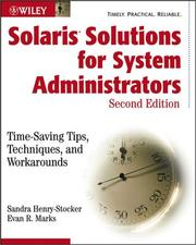 Cover of: Solaris solutions for system administrators