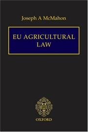 Cover of: EU Agricultural Law