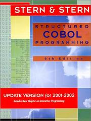 Cover of: Structured Cobol Programming
