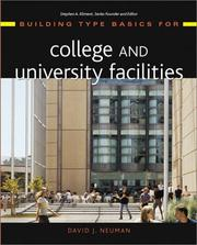 Cover of: Building Type Basics for College and University Facilities (Building Type Basics) | David J.  Neuman