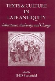 Cover of: Texts and Culture in Late Antiquity |