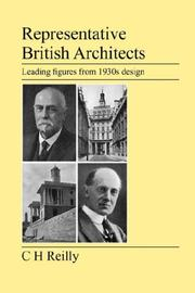 Cover of: Representative British Architects | C, H Reilly
