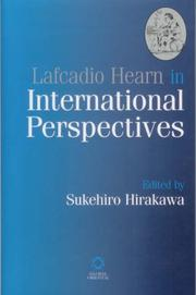 Cover of: Lafcadio Hearn in International Perspectives