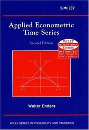 Cover of: Applied Econometric Time Series