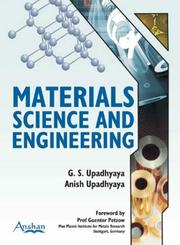 Cover of: Material Science and Engineering | G. S. Upadhyaya