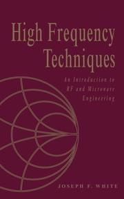 Cover of: High Frequency Techniques