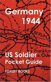 Cover of: Pocket Guide to Germany 1944