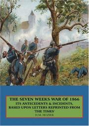 Cover of: THE SEVEN WEEKS WAR OF 1866: | Henry Hozier