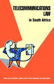 Cover of: Telecommunications Law in South Africa |