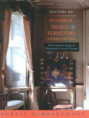 Cover of: History of interior design and furniture
