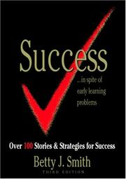 Cover of: Success Stories In Spite Of Early Learning Problems | Betty J. Smith