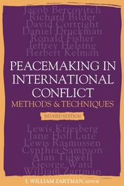 Cover of: Peacemaking And International Conflict: Methods & Techniques