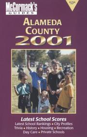 Cover of: Alameda 2001 (McCormack's Guides Alamenda County/Central Valley)