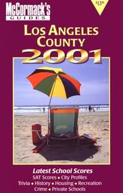 Cover of: McCormack's Guides Los Angeles 2001 2001 (McCormack's Guides Los Angeles)