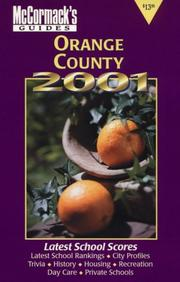Cover of: Orange County 2001 (McCormack's Guides Orange)