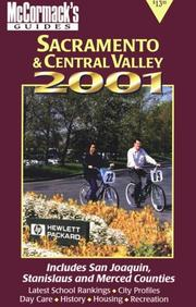 Cover of: McCormack's Guides Sacramento & Central Valley 2001
