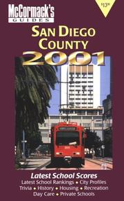 Cover of: San Diego County 2001 (McCormack's Guides San Diego)