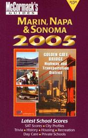 Cover of: Marin, Napa & Sonoma, 2005 (McCormack's Guides) (McCormack's Guides Marin/Napa/Sonoma)