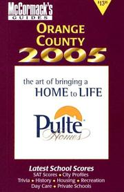 Cover of: Orange County 2005 (McCormack's Guides) (Mccormack's Guides. Orange County)