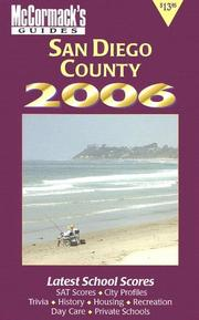 Cover of: San Diego County 2006 (Mccormack's Guides. San Diego County)
