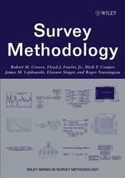 Cover of: Survey methodology