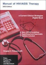 Cover of: Manual of HIV/AIDS Therapy for PDAs and Desktops | Douglas C. Princeton