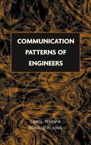 Cover of: Communication patterns of engineers | Carol Tenopir