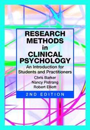 Cover of: Research Methods in Clinical Psychology | Chris Barker