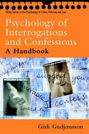 Cover of: The Psychology of Interrogations and Confessions