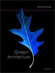 Cover of: Green Architecture