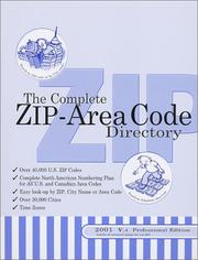 Cover of: The Complete ZIP-Area Code Directory, 2001