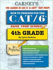 Cover of: How to Prepare For the CAT/6 4th Grade