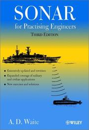 Cover of: Sonar for practising engineers | A. D. Waite