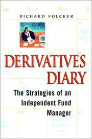 Cover of: Derivatives diary | Richard Folcker
