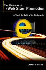 Cover of: The Elements of <Web Site> Promotion