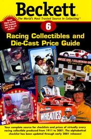 Cover of: Beckett Racing Price Guide and Alphabetical Checklist (Beckett Racing Collectibles and Die-Cast Price Guide)
