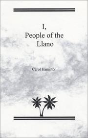 Cover of: I, People of the Llano