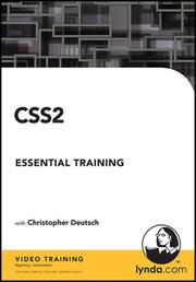 Cover of: CSS2 Essential Training | Christopher Deutsch