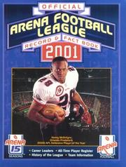 Cover of: Arena Football League Official Record and Fact Book 2001 (Arena Football League Official Record & Fact Book) | Arena Football League