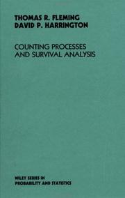 Cover of: Counting processes and survival analysis | Thomas R. Fleming