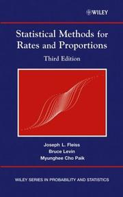 Cover of: Statistical methods for rates and proportions