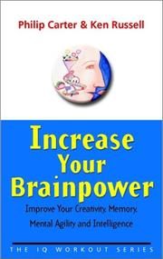 Cover of: Increase Your Brainpower | Philip Carter