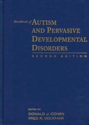 Cover of: Handbook of autism and pervasive developmental disorders |